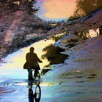 biking on the water by adibudojo