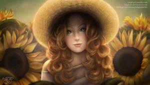 Sunflower Girl by MPL-Art
