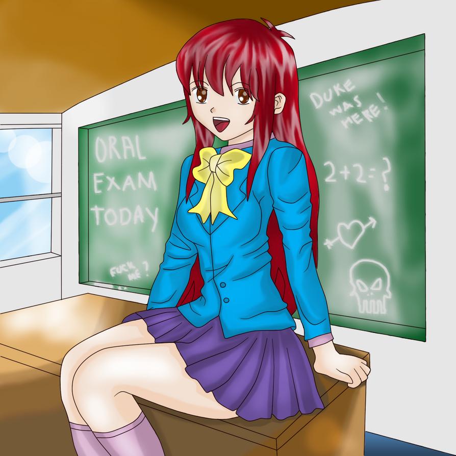 waiting for her teacher by wawatu