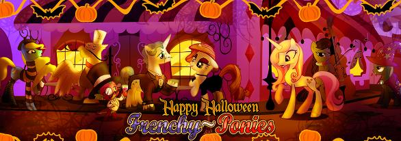Banniere halloween Frenchy-Ponies by Sakiru1