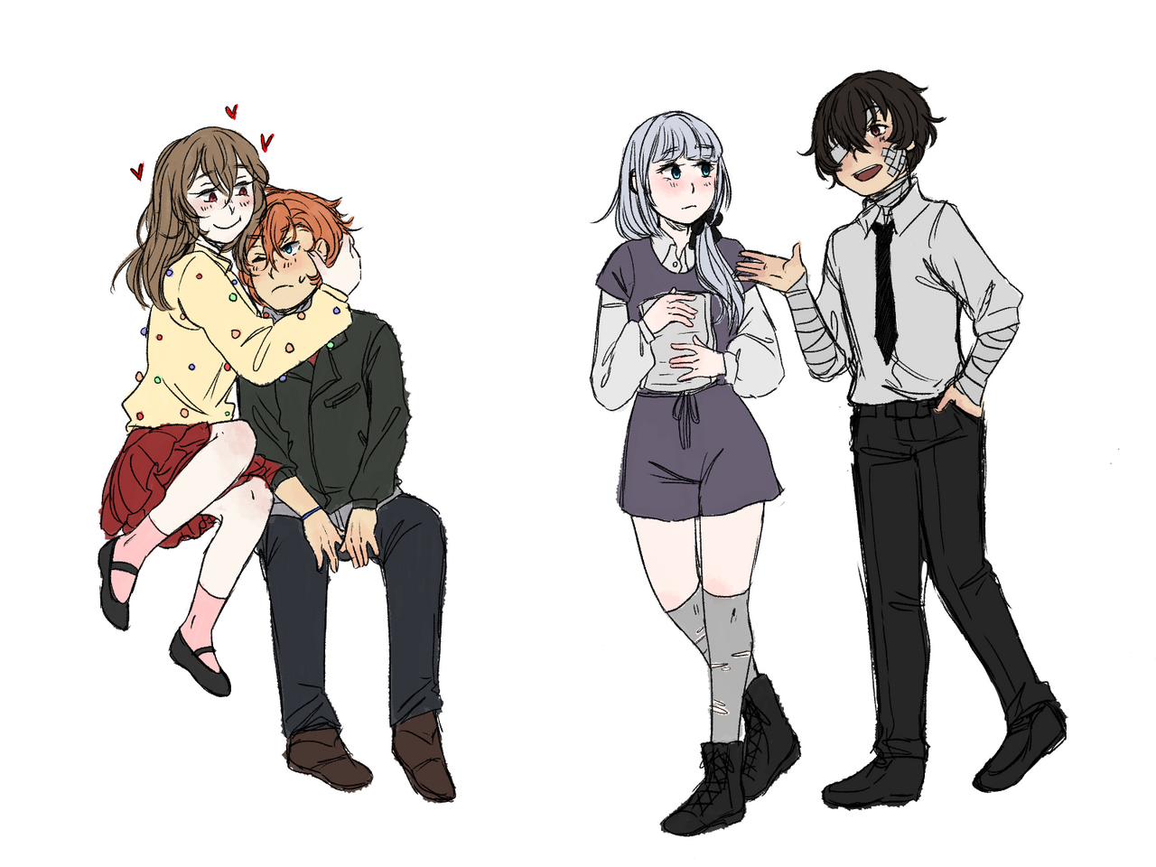 Bsd Dorky Teenagers By You May Call Me Meme On Deviantart