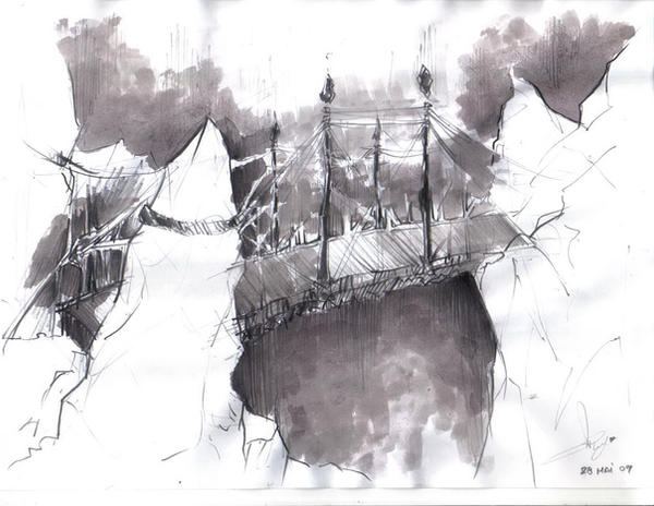 Conceptual bridge by roxaralu