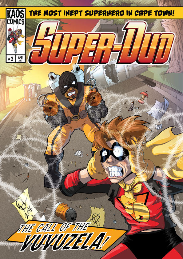 Super-Dud#3 cover art by Kaos2007