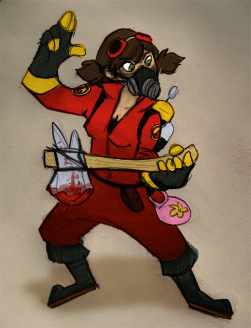 TF2: Fem-RED Pyro Air Guitar by ph00