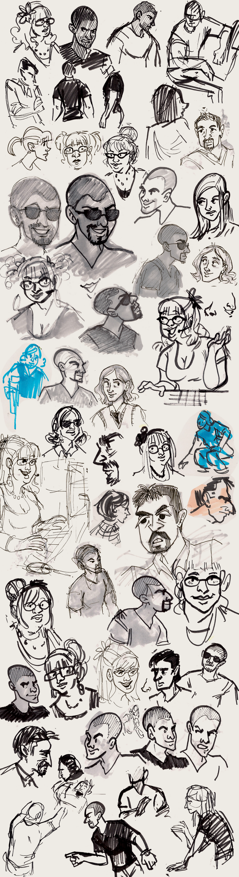 Sketches: Criminal Minds by ph00