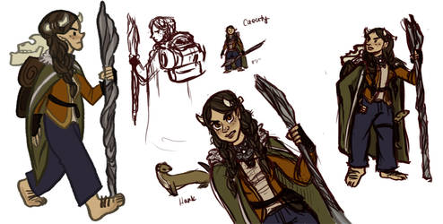 DnD: Caecity the Halfling Sorceress by ph00