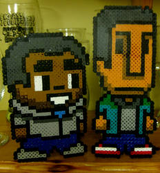 Community: Troy and Abed on your desk