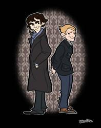 Sherlock and Watson by ph00
