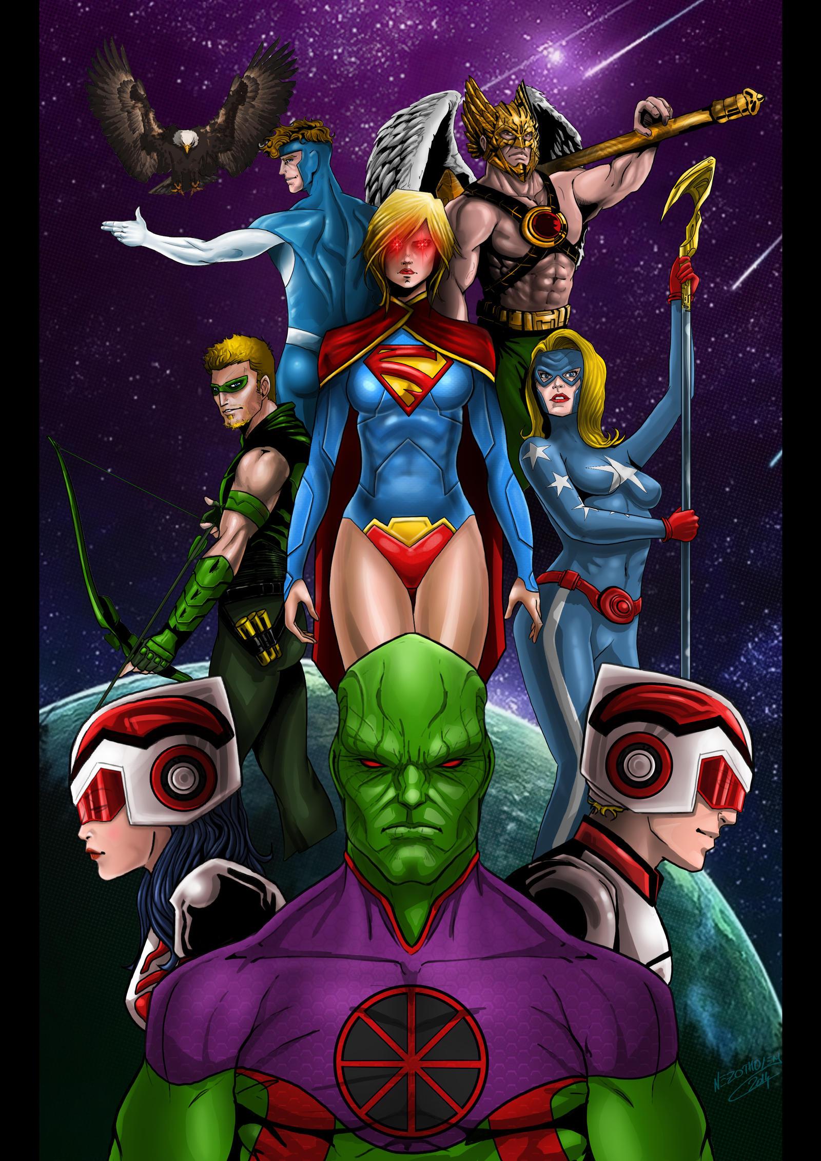 Justice League United by Nezotholem