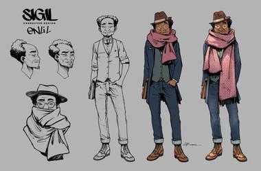 Character Design: Enlil by Nezotholem