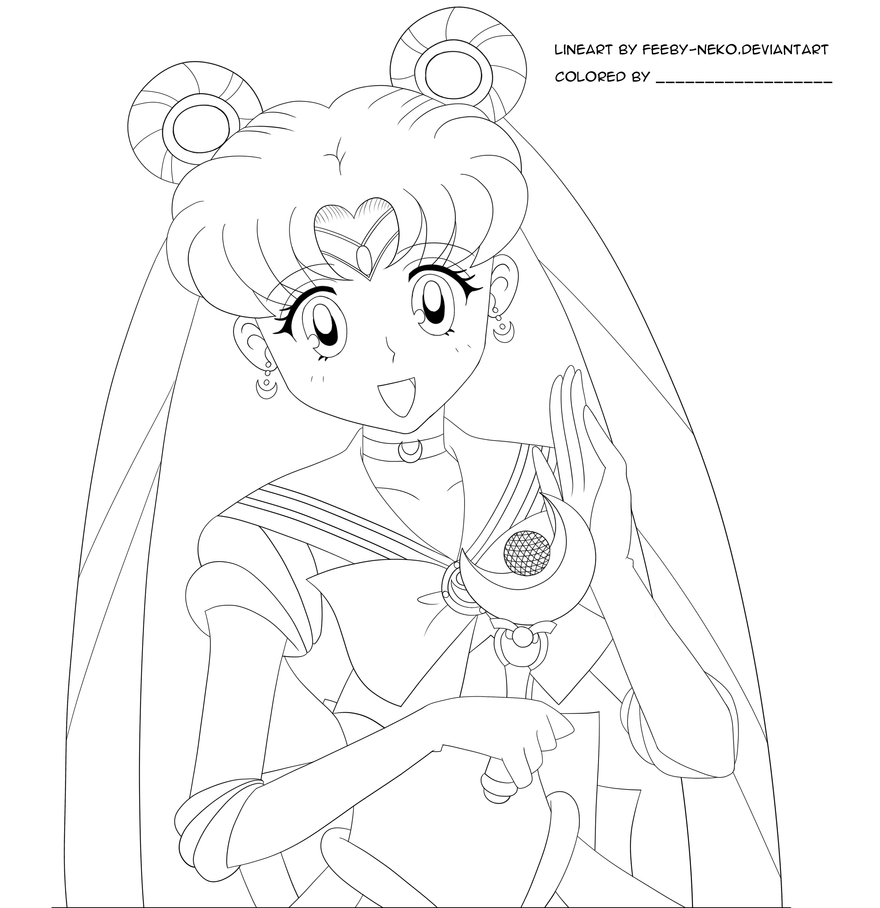 Anime Neko Girl Coloring Pages Pictures to Pin on Pinterest