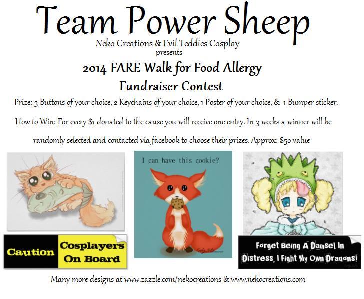Contest To Raise Food Allergy Awareness by FeebyNeko