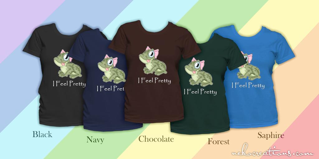 I Feel Pretty Frog Shirts by FeebyNeko