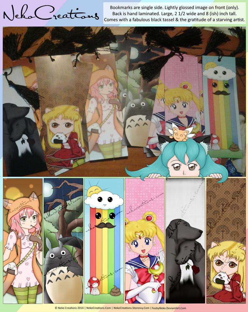 Bookmarks Live On My Storenvy by FeebyNeko
