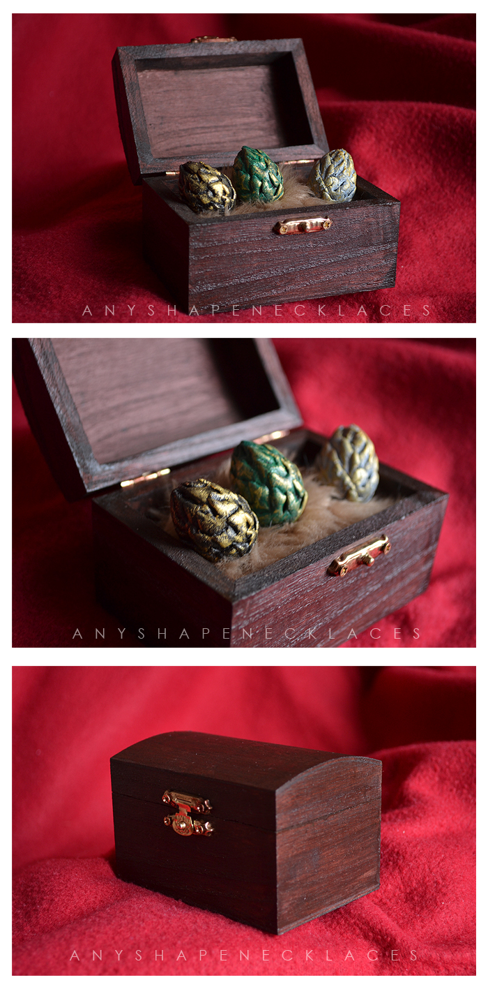 NEW Version Game of Thrones Dragon Eggs Chest by AnyShapeNecklaces