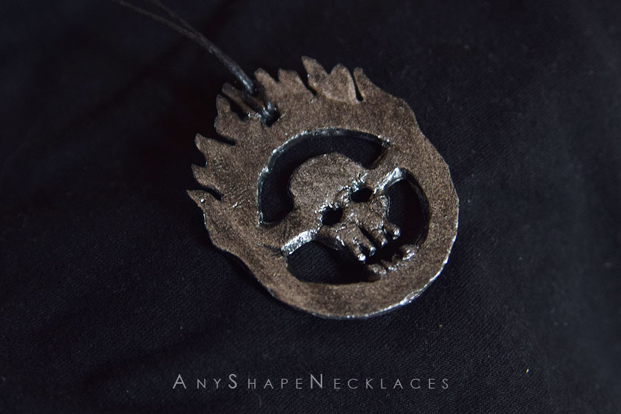 Mad Max Fury Road Skull Immortan Joe Logo by AnyShapeNecklaces