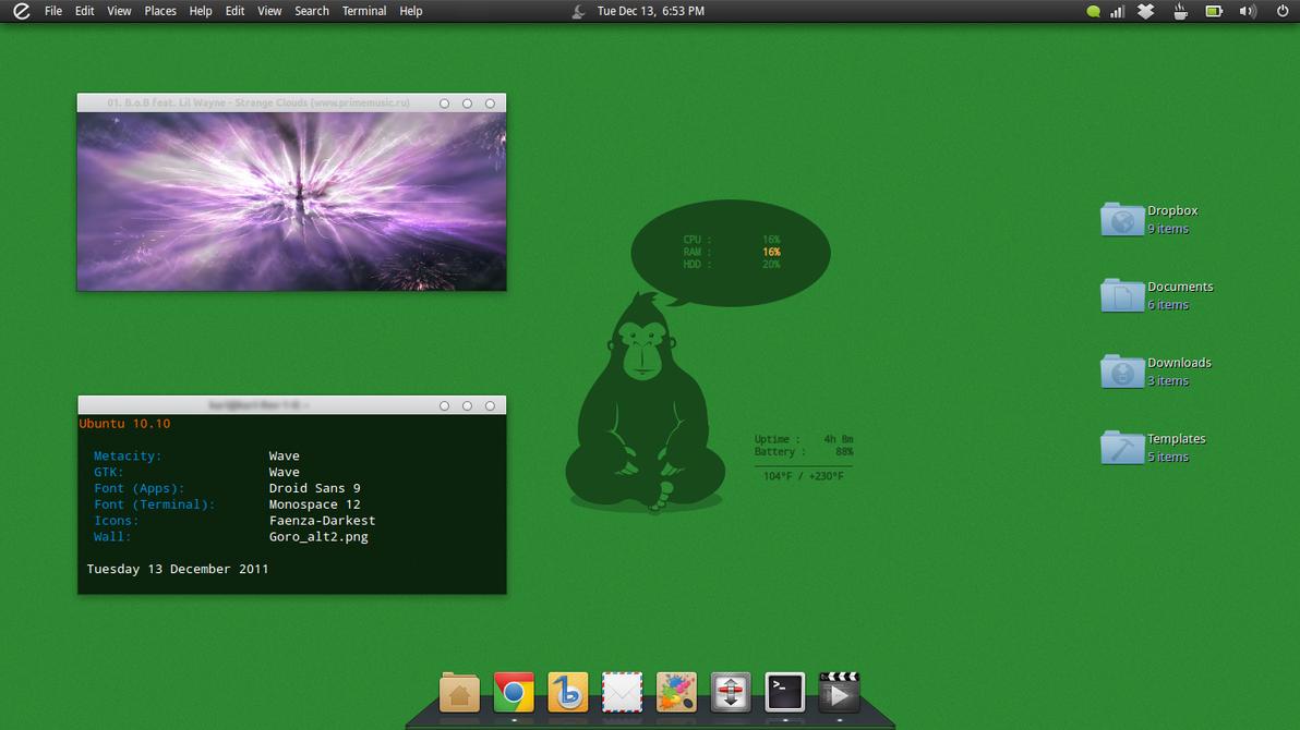 Ubuntu December Screenshot by 1inux