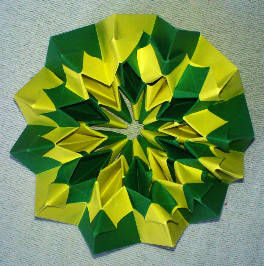 Оригами фейерверк из бумаги своими руками