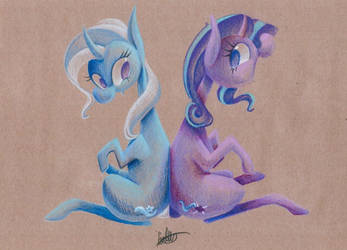 Trixie and Starlight by getchanoodlewet