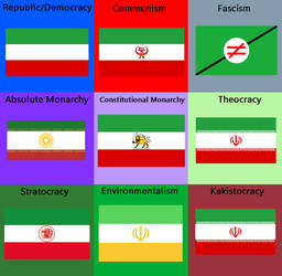 Ideological Iran Flag by LynoxLifts