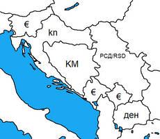 Currency symbols in former Yugoslav Republics