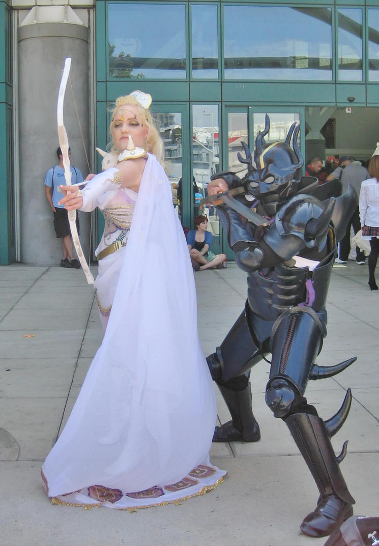 Rosa and Dark Knight Cecil by enchantedrose21
