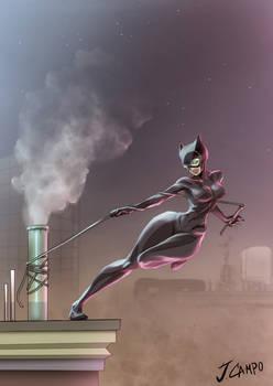 Fantart - Catwoman rooftop