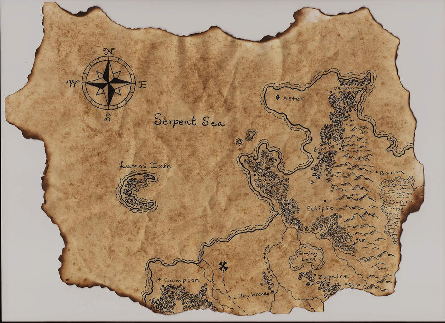 Old Treasure Map By Abraxas Within
