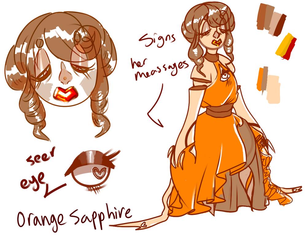Orange Sapphire by SmasherlovesBunny500