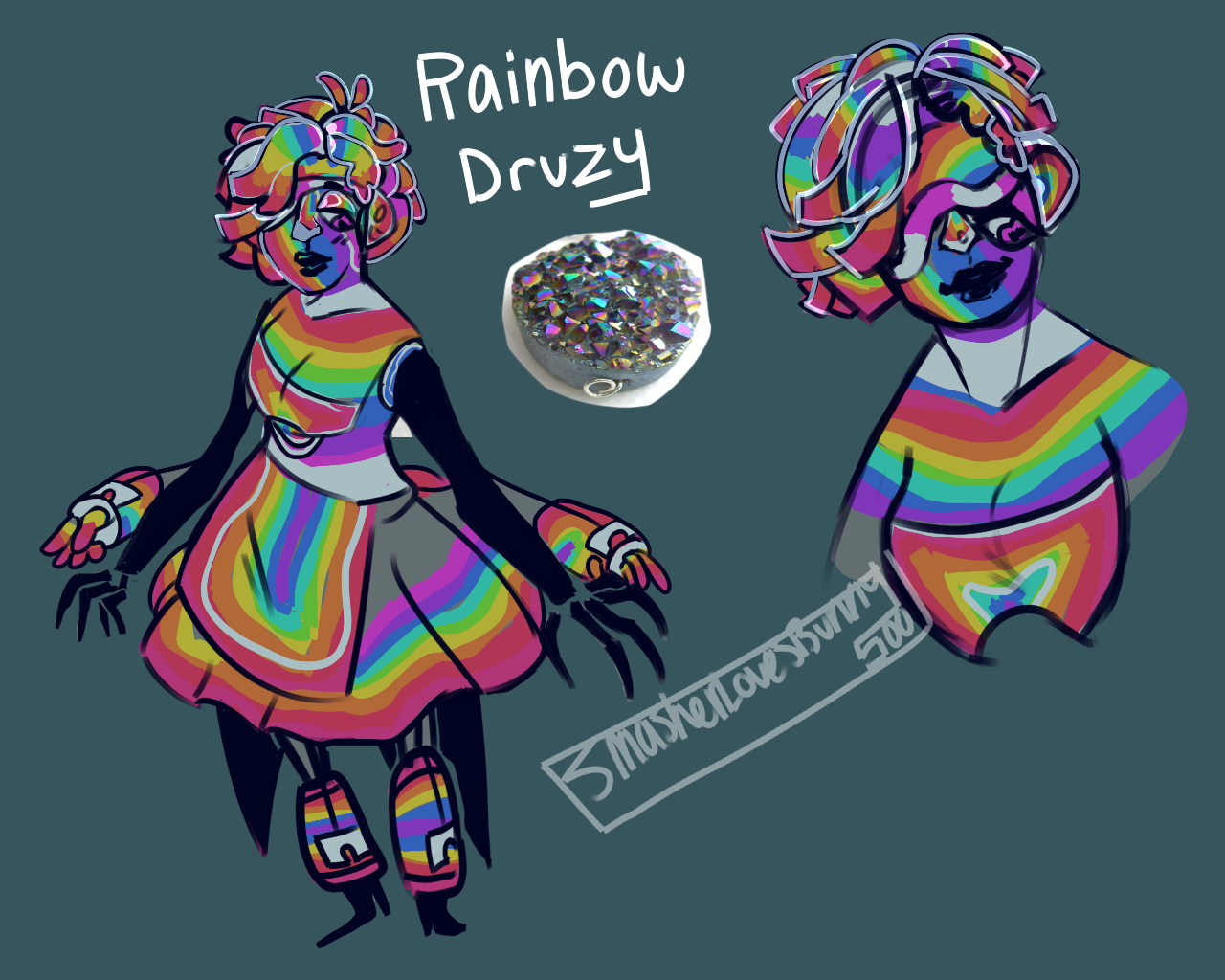 Rainbow Druzy [GIFT] by SmasherlovesBunny500