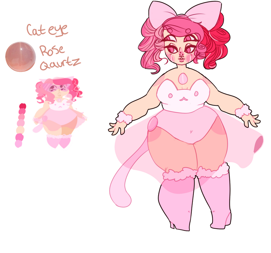 Cat Eyed Rose Quartz by SmasherlovesBunny500