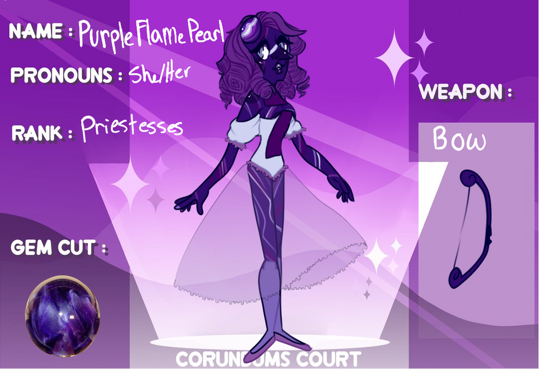 Purple Flame Pearl [Application] by SmasherlovesEvil