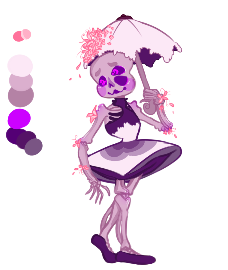 Purple Flower Rain Child [CUSTOM] by SmasherlovesBunny500
