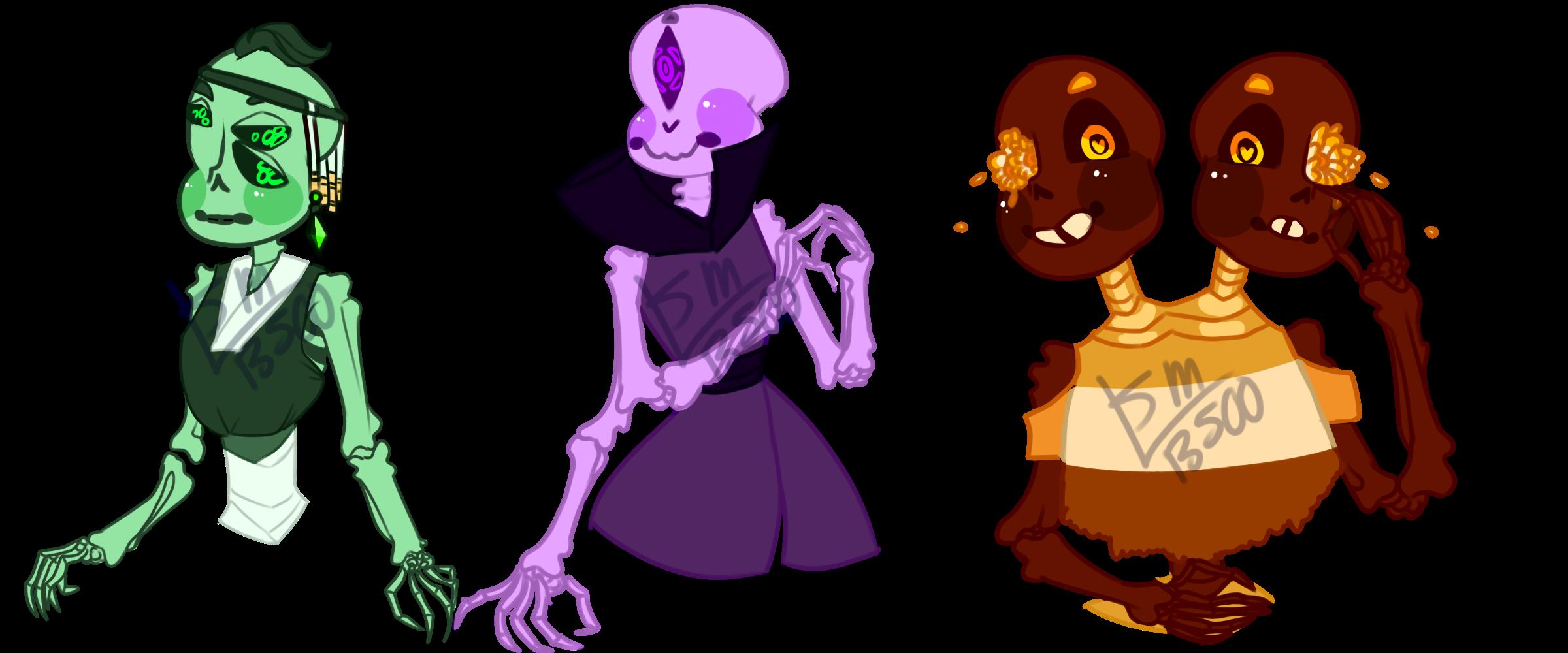 Skeleton Adopts 3 [CLOSED 0/3] by SmasherlovesBunny500
