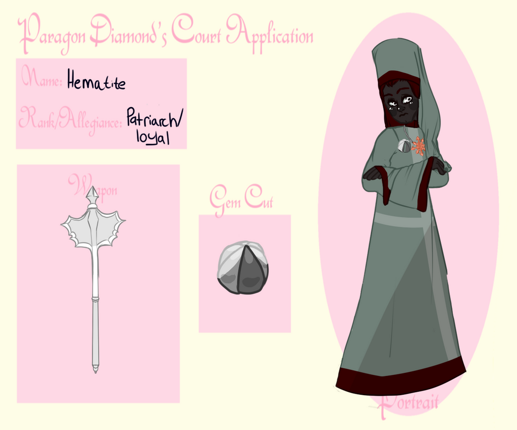 Silver Hematite [COMMISSION APPLICATION] by SmasherlovesBunny500