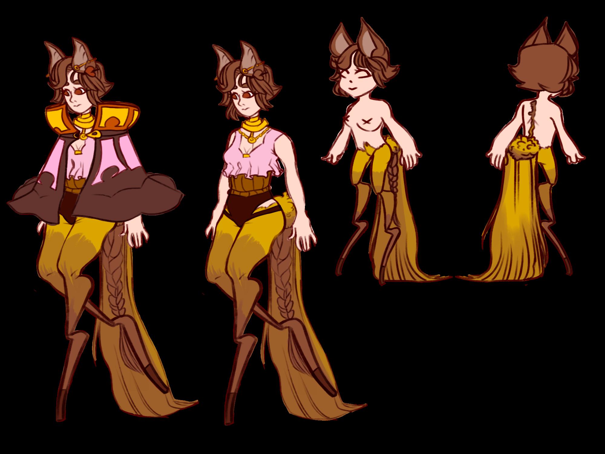 Braided Tails: Loavia by SmasherlovesBunny500