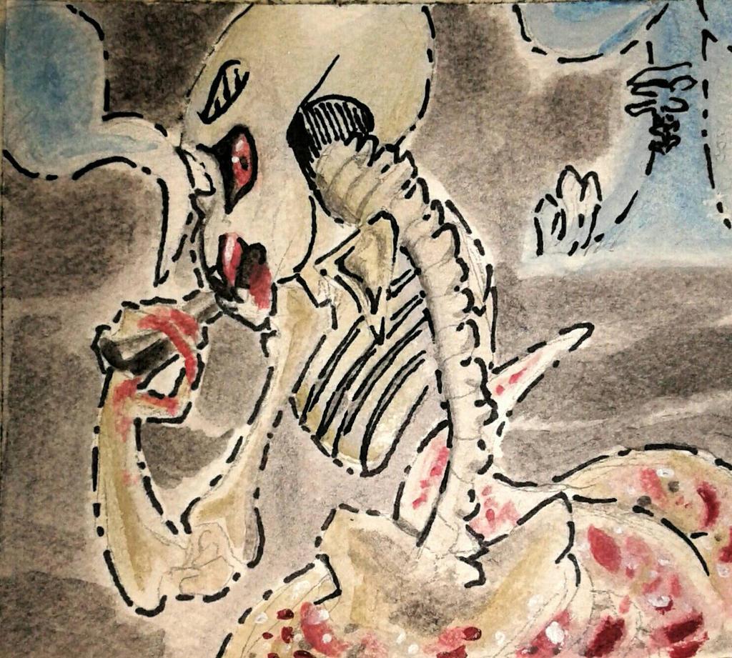 Goretober 7 Cannibalism  by SmasherlovesBunny500