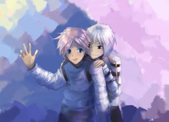 Cute Eshi and Troy by Hangmoon