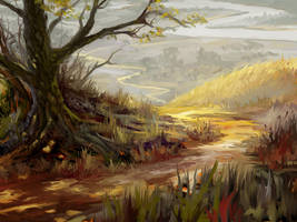 Road from the forest by Hangmoon