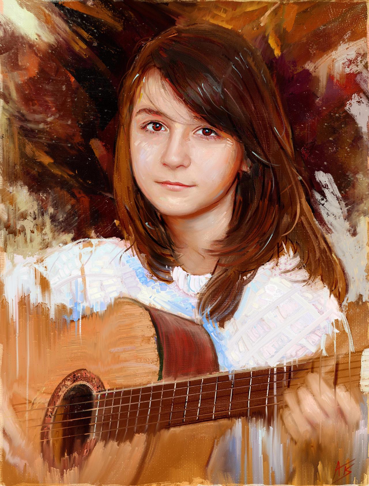 Portrait of Ulya by Hangmoon