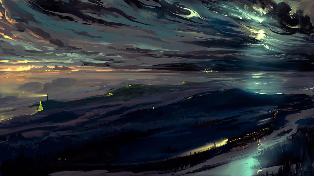 Night train by Hangmoon