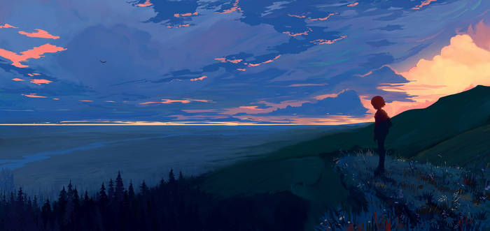 Evening in the mountains