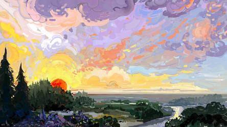 Cream Sunset