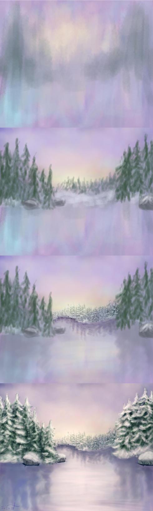 Frozen Lake Process by sisaat