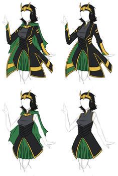 Clothing Designs - Avengers Loki Dress