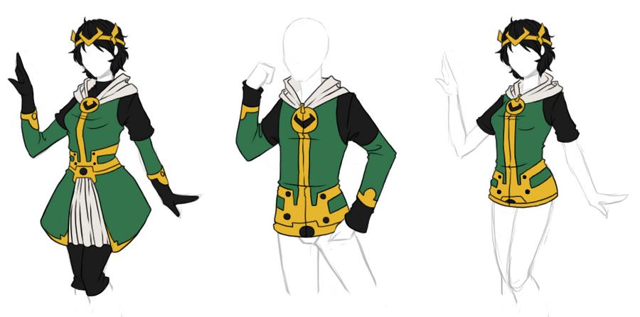 Clothing Designs - Kid Loki Batch by BakaNekoSango