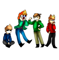 Eddsworld gang by Katethedragon02