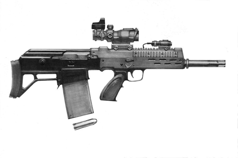 AK Bullpup Carbine .50 Beowulf by vombavr