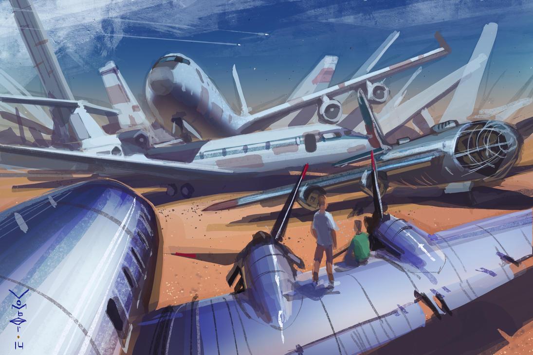Airplane graveyard by vombavr