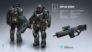 Cyberpunk heavy suit SPAS-5150